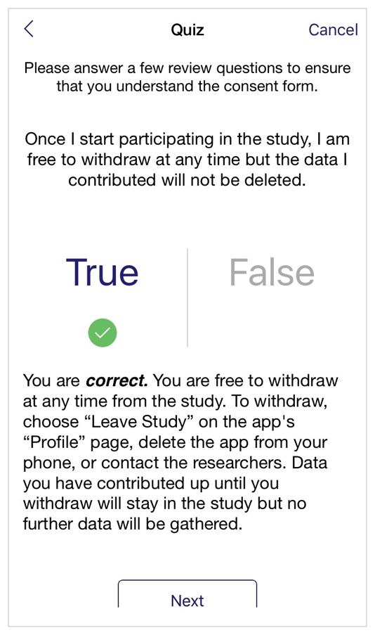 iOS Human Interface Guidelines Research Apps – Survey Consent Form